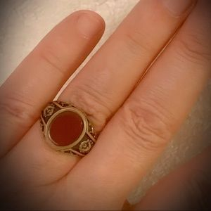 MYSTIC GOLD ONYX RING Men/Unisex Sz 9.5 Solid 925